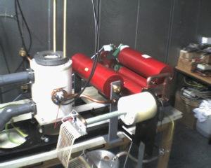 Entwicklung im Hochstrom mit hoher Frequenz - Kondensatorerwäermung durch Wirbelströme - Aufbau