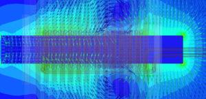 Entwicklung im Hochstrom mit hoher Frequenz - Simulation Transformator
