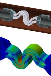 Entwicklung im Hochstrom mit hoher Frequenz - Simulation magnetische Kraft